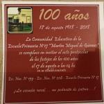 Escuela Puente Castex 100 años