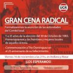 Cena Radical Nov 18